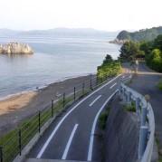 dedicated bike lane ( withsome steps) 自転車専用道